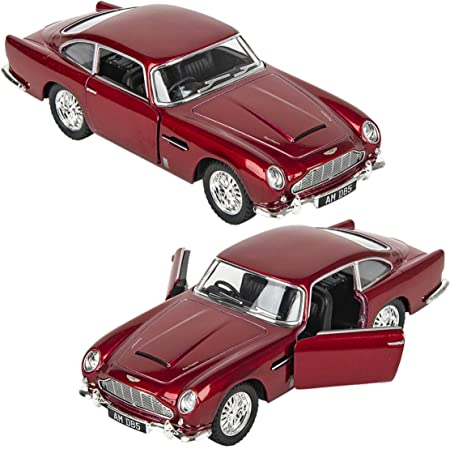 Magicwand® KiNSMART 1:38 Scale Die-Cast Metal Martin DB5 (James Bond 007 Goldfinger) with Openable Doors & Pull Back Action (Colors as Per Stock)
