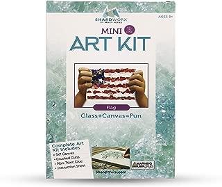 ShardWorx Art Kits by Mary Hong - Mixed Media Glass Art - Mini Flag Kit