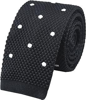 Men's Skinny Knit Ties Polka Dots Pattern Designer Necktie 2
