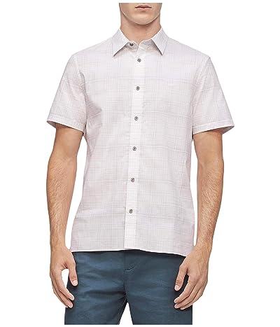 Calvin Klein Linen Refined Casual Shorts (Stargazer) Men