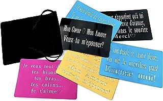 1 CARTA personalizzata da incidere + 1 BORSA in velluto; carta metallica con testo, messaggio, nome grazie, scuse, invito,...