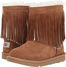 UGG Kids Classic Short II Fringe (Little Kid/Big Kid)