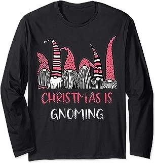 Christmas is Gnoming God Jul Gnome Tomte Xmas Santa Holiday Long Sleeve T-Shirt