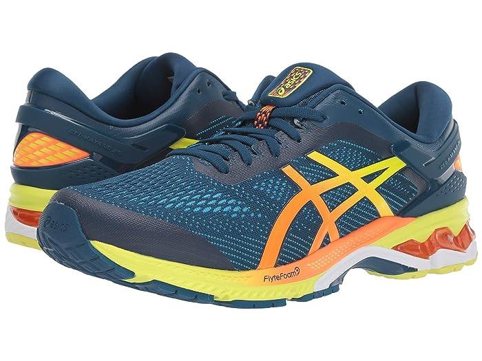 ASICS  GEL-Kayano 26 (Mako Blue/Sour Yuzu) Mens Running Shoes