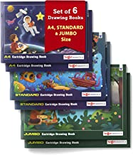 TARGET PUBLICATIONS Drawing Books | A4 (Approx), Standard & Jumbo Size | Sketch Pad for Kids, Students, Artists | 36 Blank...