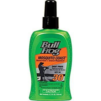 Bull Frog Mosquito Coast, Sunscreen with Insect Repellent, SPF 30 4.7 oz by Bull Frog