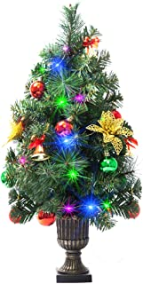 Varmax Mini Christmas Tree Prelit and Pre-décor 21.5 inches and Batteries Operated, Flashing Lights