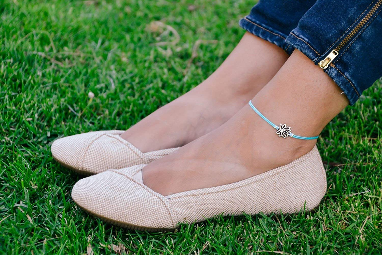 Lotus anklet Low 100% quality warranty! price blue ankle bracelet buddh lotus with charm silver