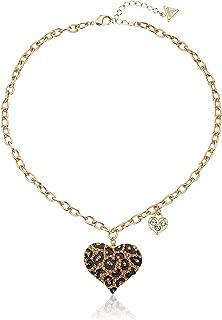 Women's Gone Wild Animal Print Heart Necklace