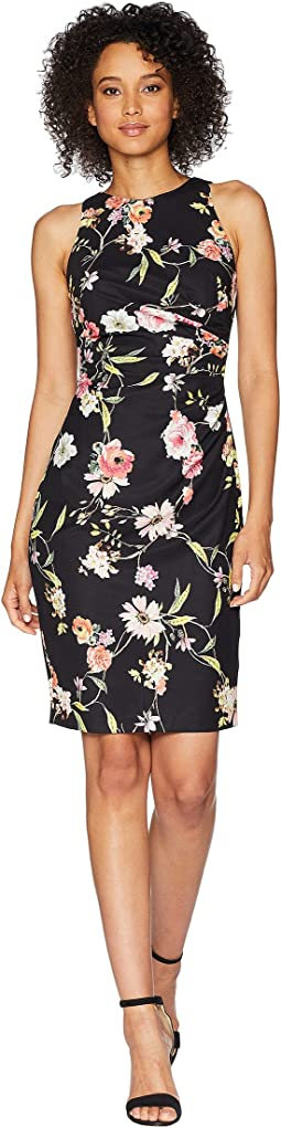 Eternal Blooms Print Sheath Dress