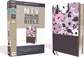 NIV, Thinline Reference Bible, Leathersoft, Purple, Red Letter Edition, Comfort Print