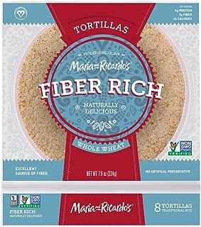 Maria and Ricardos Low Carb Low Fat Tortilla, 6 inch - 8 per pack - 16 packs per case.