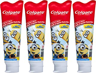 Colgate Kids Toothpaste with Anticavity Fluoride, Minions, 4.6 Ounce (Pack of 4)
