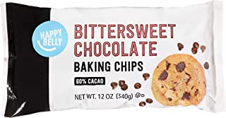 Amazon Brand - Happy Belly Bittersweet Chocolate Baking Morsels, 12 Ounce
