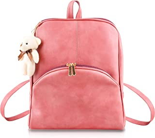 SaleBox® Fashion Girls Fashion Cute Stylish Leather Backpack Women School & College Girls Ideal for All Age Group