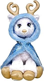 Build a Bear Golden Glisten White Reindeer Blue Cape 16in. Stuffed Plush Toy Animal
