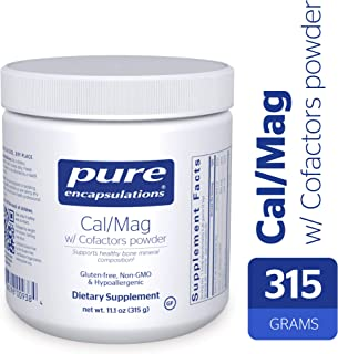 Pure Encapsulations - Cal/Mag with Cofactors Powder - Highly-Absorbable Calcium with Magnesium, Vitamin D, Boron, Silica and Xylitol - 315 Grams