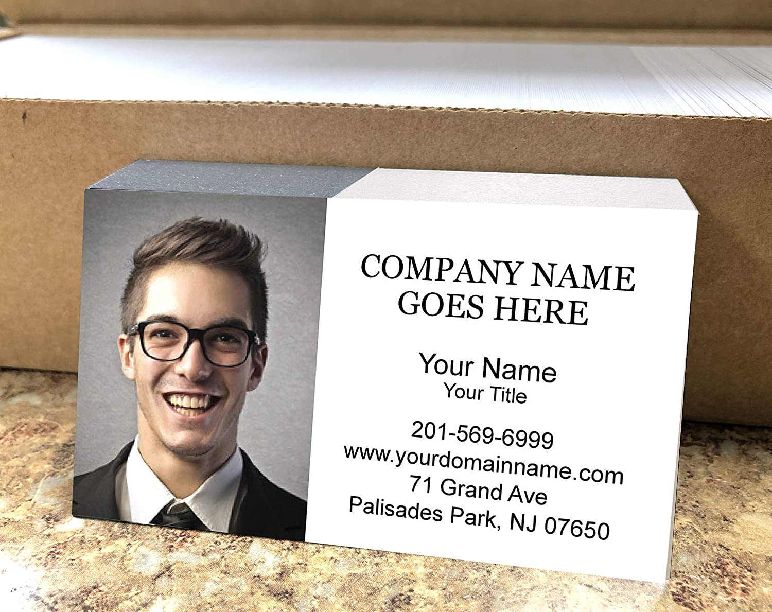 Custom Business Card with Picture Finally popular brand 500p sale Logo 2sides Printing or
