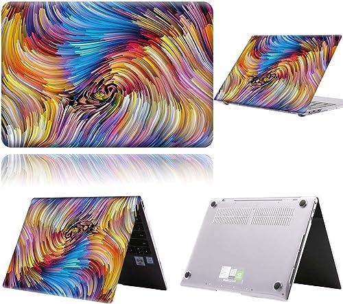 JUFENGYAO Fall fur Huawei MateBook D14 D15 MateBook X Pro 13 9 MateBook 13 14 Kunststoff Gedruckter Schutzhilfe auf Musterabdeckung Farbe B8 Size MateBook D15