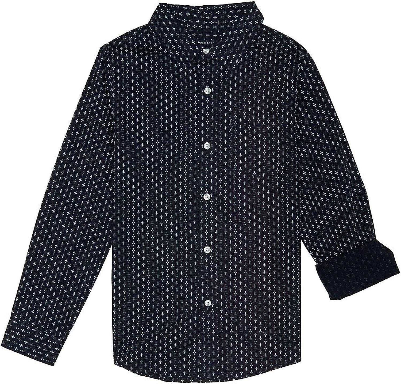 French Toast Boys Long Sleeve Woven Yarndye Shirt TShirt