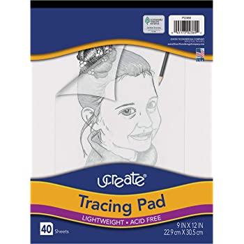 "Pacon UCreate Tracing Pad, White, 9"" x 12"", 40 Sheets"