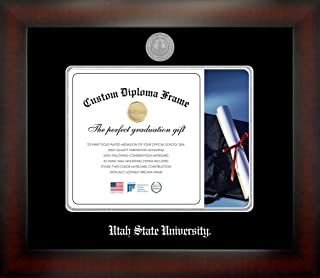Celebration Frames Utah State University 8½ x 11 Mahogany Finish Infinity Diploma Frame