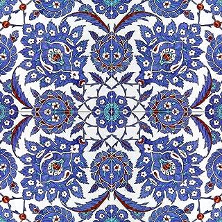 Turkish Pattern 16th Century Design Tile Mural Kitchen Bathroom Wall Backsplash Behind Stove Range Sink Splashback 2x2 12