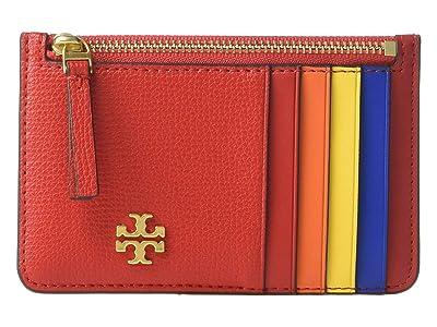 Tory Burch Kira Slim Card Case (Brilliant Red) Wallet