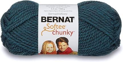 Bernat Softee Chunky Yarn, 3.5 Oz, Gauge 6 Super Bulky, Teal