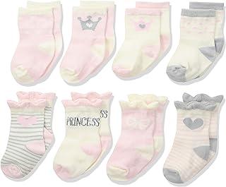 Gerber calcetines a prueba de pelucas para bebés y niñas, 8 pares