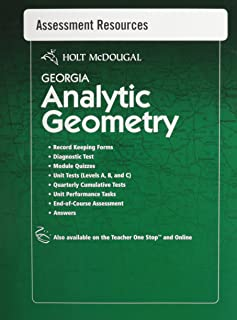 Holt McDougal Geometry Georgia: Common Core GPS Assessment Resources with Answers Analytic Geometry