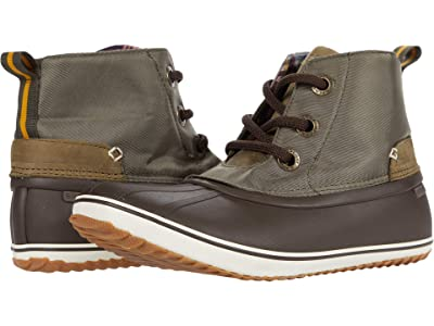 Sperry Schooner 3-Eye Twill Nylon (Olive/Tan) Women