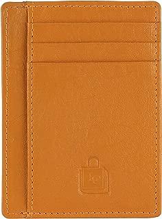 Le Craf Tan RFID genuine Leather Credit card holder for Men/Women Front Pocket Slim Wallet