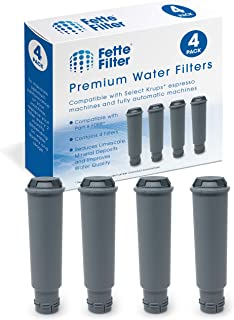 Fette Filter – Coffee Water Filter Compatible Filtration System for KRUPS Coffee Makers, Compatible with F088. Pack of 4