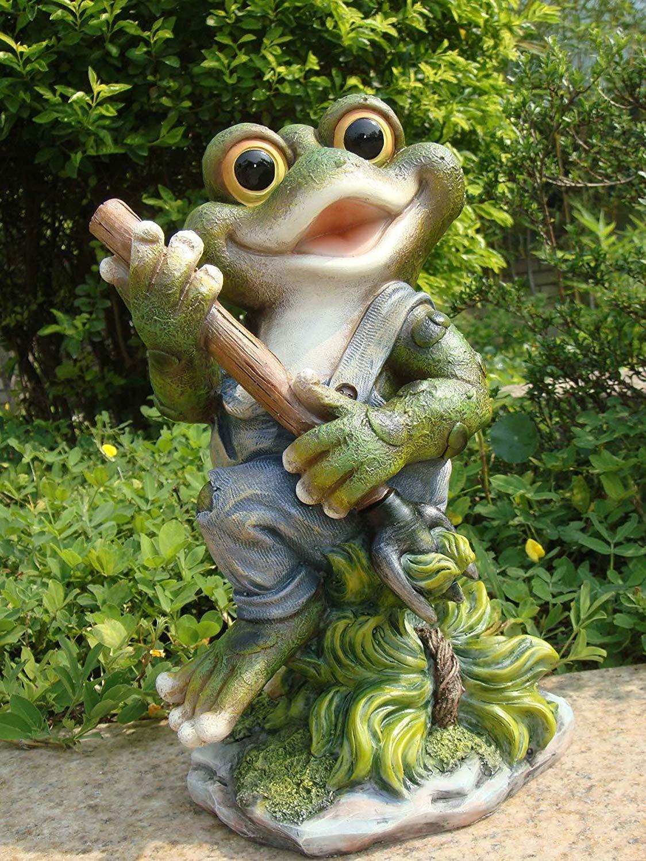 GMMH Design 3 Figurines de 29 cm de Hauteur 11151–3 Déco Jardin Nain de Jardin Grenouille décoration: Amazon.es: Jardín