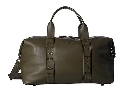 Ted Baker Hungar Debossed Holdall (Olive) Briefcase Bags