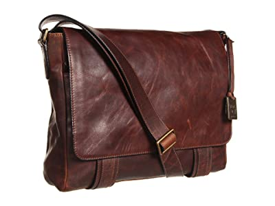 Frye Logan Messenger (Dark Brown Antique Pull Up) Messenger Bags