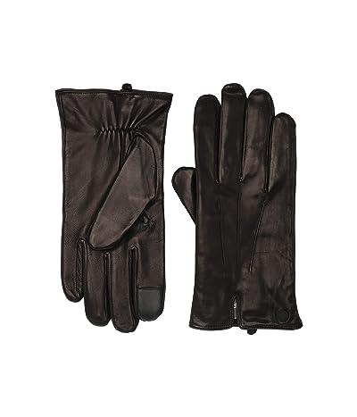 MICHAEL Michael Kors Vent Back Leather Gloves (Black) Extreme Cold Weather Gloves