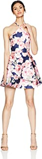 Speechless Women's Printed Mikado Short Party Dress