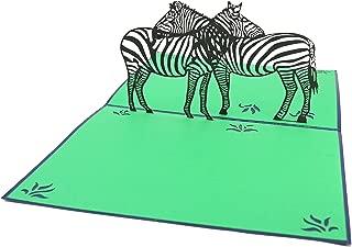 PopLife Zebra Safari Pop Up Card, 3D Card for All Occasions - African Savanna Themed