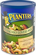PLANTERS Pistachio Lover's Mix, 1.15 lb. Resealable Canister - Deluxe Pistachio Mix: Pistachios, Almonds & Cashews Roasted...
