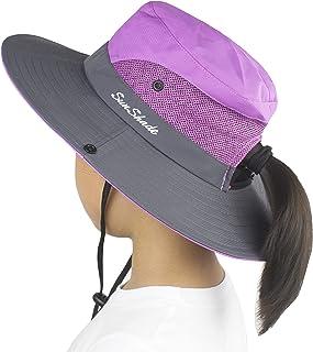 Koreshion Kids Summer Sun Hat Foldable Mesh Wide Brim UV Protection for Girls Beach Bucket Cap …