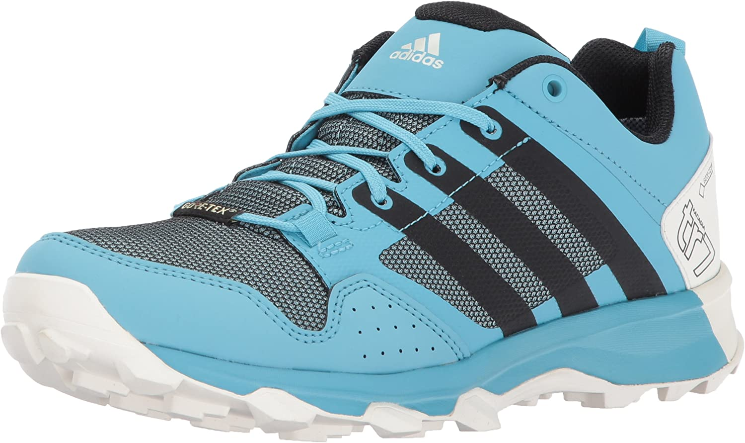 Adidas Outdoor Women's Kanadia 7 GTX W Trail Running shoes, Vapour bluee Black Clear Aqua, 6 M US