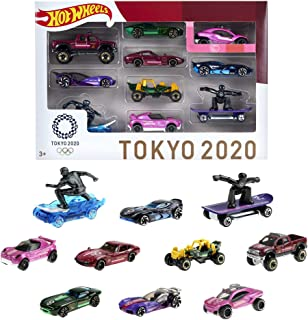 Hot Wheels Tokyo 2020 Olympics 10 Castings in 1 Pack Includes Treasure Hunt Car Featuring Popular Sports as 1:64 scale car...