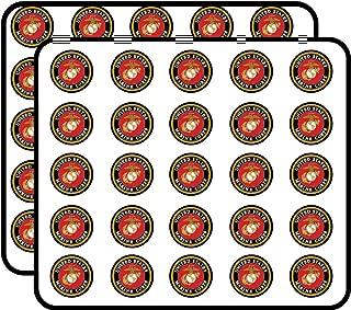 United States Marine Corps Sticker for Scrapbooking, Calendars, Arts, Kids DIY Crafts, Album, Bullet Journals 50 Pack