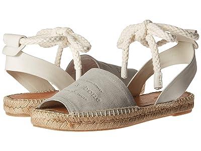 rag & bone Estelle Ankle Tie Espadrille (Cemento) Women