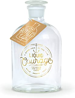 Fred BOTTLED UP Glass Spirits Decanter, Courage