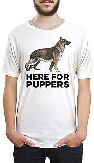 Here for Puppers Men Women Unisex T Shirt Tee Shirts