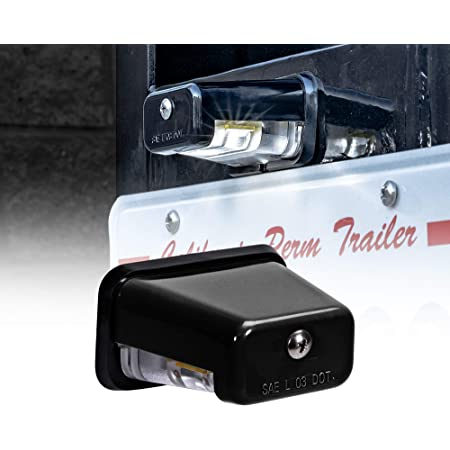 Bass Boat TRAILER LED license Plate Lights Stainless