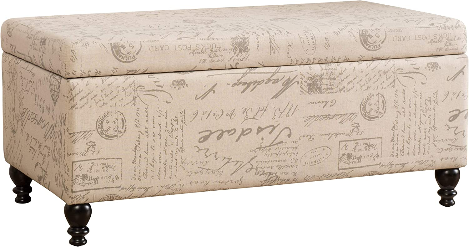 Christopher Knight Home Parisian Max 60% OFF NEW before selling Script Ottoman French Storage